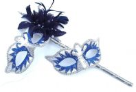 Blue Swan Lake Flower Masks